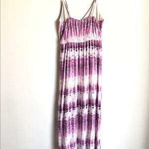 one clothing Dresses - One Clothing LA Maxi Dress Plum White Tie Dye Sz M
